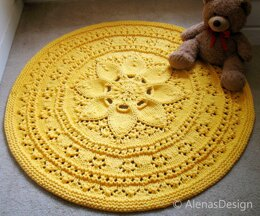 Floral Lace Rug