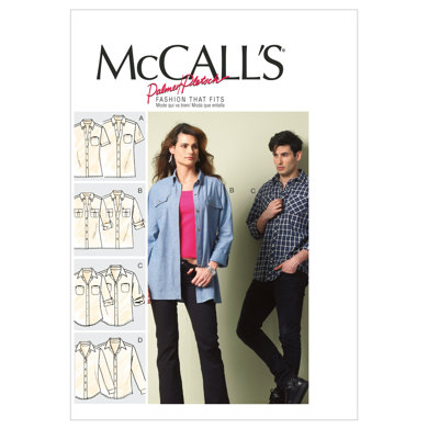 McCall's Misses'/Men's Shirts M6613 - Sewing Pattern