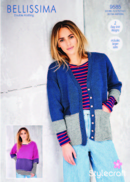 Cardigan & Jumper in Stylecraft Bellissima - 9585 - Downloadable PDF