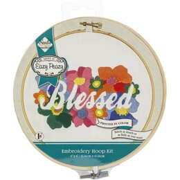 Needle Creations Easy Peasy Reverse Embroidery Kit - Blessed - 6in