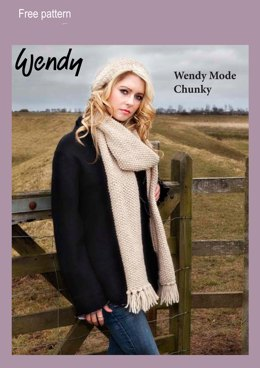 Floppy Hat and Scarf in Wendy Mode Chunky