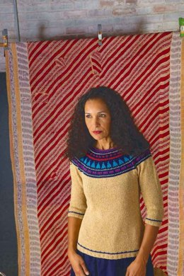 Agave Sweater in Berroco Captiva and Fuji - PDF360-1