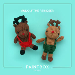 Rudolph the Reindeer - Free Toy Crochet Pattern For Christmas in Paintbox Yarns Cotton Aran by Paintbox Yarns
