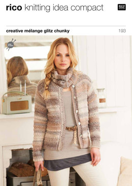 Textured Cardies & Snood in Rico Creative Melange Glitz Chunky - 193