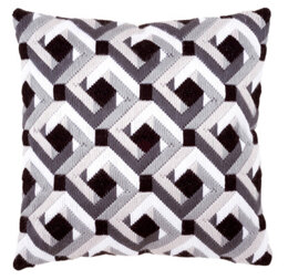 Vervaco Diamonds Long Stitch Cushion Front - 40 x 40cm