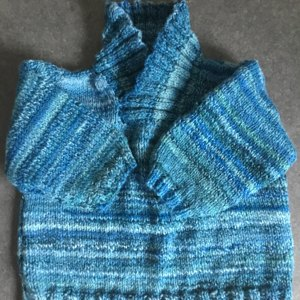 Hat Sweater And Blanket In Sirdar Snuggly Baby Crofter Dk