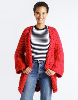 Fearless Cardigan in Wool and the Gang Crazy Sexy Wool - Leaflet