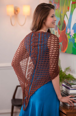 Falling Leaves Shawl in Aunt Lydia's Bamboo Crochet Thread - LC4086 - Downloadable PDF