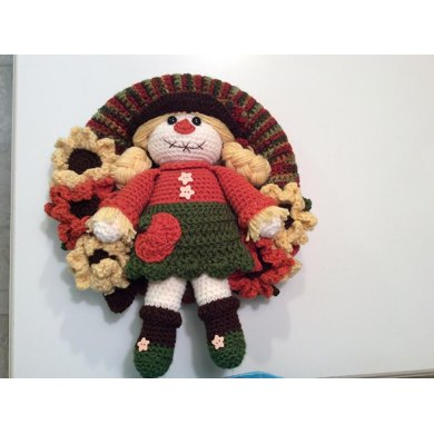 Scarecrow Flower Wreath