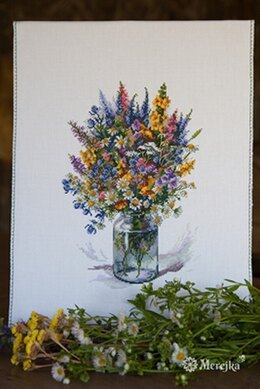 Merejka The Thistle Bouquet Cross Stitch Kit