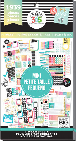 The Happy Planner Sticker Value Pack - Work It Out - Mini, 1939/Pkg