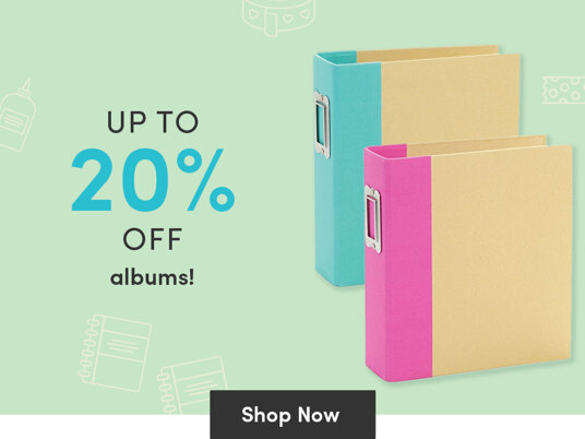 Up to 20 percent off albums!