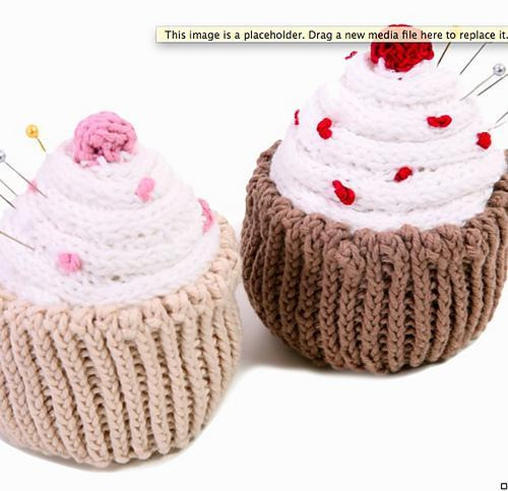 Yummy cupcake pincushion knitting pattern by sue stratford zoom bankloansurffo Image collections