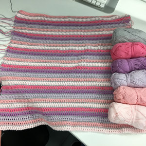 Baby Blanket In Paintbox Yarns Cotton Dk Downloadable Pdf