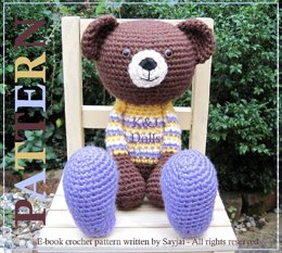 Huggy Bear Amigurumi Crochet Pattern
