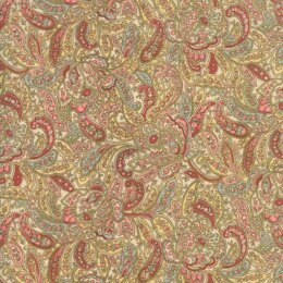 Moda Fabrics Roses and Chocolate II -Floral Foulards Roses Natural