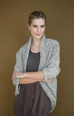 Speckled Shrug in Lion Brand Fishermen's Wool - 90690AD