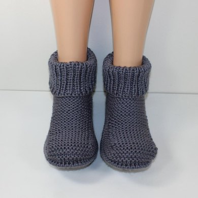 Freds Boots Mens Slippers Knitting Pattern By Madmonkeyknits