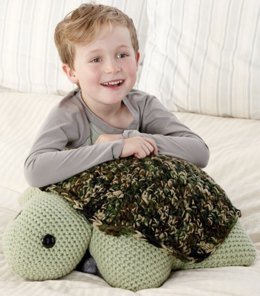 Turtle Pillow Pal in Red Heart Super Saver Economy Solids - LW2668