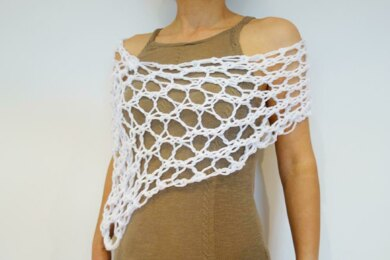 White Web Asymmetrical Wrap