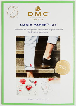 DMC Love Magic Paper Embroidery Kit