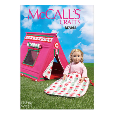 McCall's 18 Doll's Sleeping Bag and Tent M7268 - Sewing Pattern