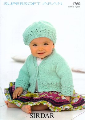 Beret and Jacket in Sirdar Supersoft Aran - 1760