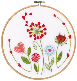 Vervaco Flowers Embroidery Kit - Multi