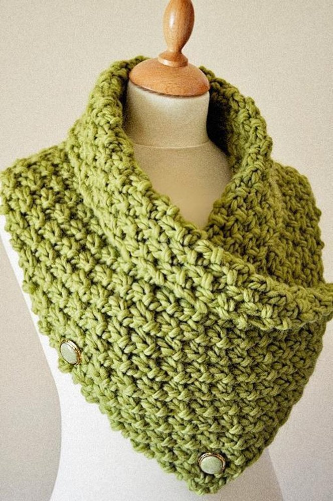 Easy Chunky Knit Neck Warmer Cowl Knitting Pattern By Arty Lou