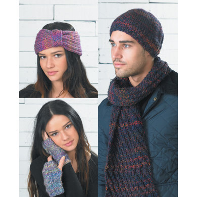 Headband Scarf And Beanies In Wendy Festival Chunky 5738