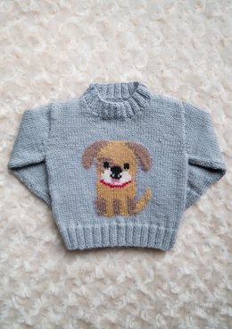 Intarsia Doggy Chart Childrens Sweater