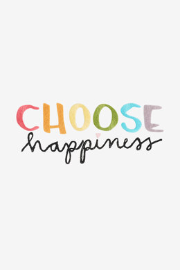 Choose Happiness in DMC - PAT0397 - Downloadable PDF