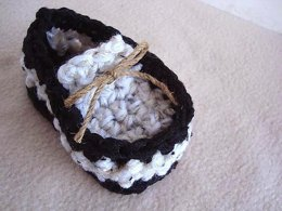 705 BABY LOAFER BOOTIES CROCHET PATTERN, newborn to 6 years