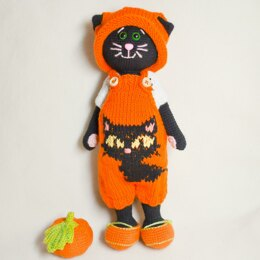 Amigurumi black cat Lucky