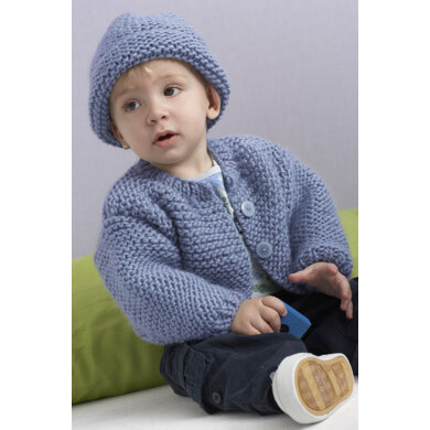 Oakwood Cardigan and Hat in Lion Brand Alpine Wool - 90531AD