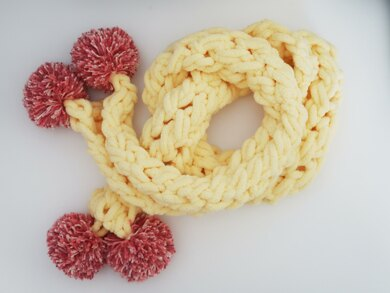 Twisted Scarf Off The Hook Knitting Crochet Pattern By