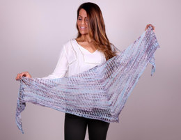 Mesh Shawl in Plymouth Yarn Linaza Hand Dyed - f733 - Downloadable PDF