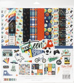 "Echo Park Paper Echo Park Collection Kit 12""X12"" - Teen Spirit Boy"