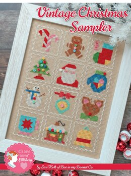 It's Sew Emma Vintage Christmas Sampler Cross Stitch Pattern - ISE-402 - Leaflet