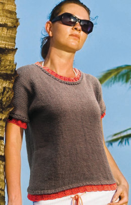 Double Tee in Knit One Crochet Too 2nd Time Cotton - 1766