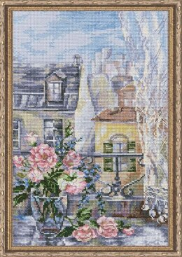 RTO Morning in Paris Cross Stitch Kit - 21.5cm x 32.5cm