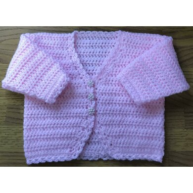 Lovely Shaped Edge Cardigan for Baby up to 2 Years
