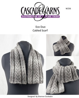 Cabled Scarf in Cascade Eco Duo - W256