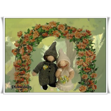 Bride and Groom Gnomes