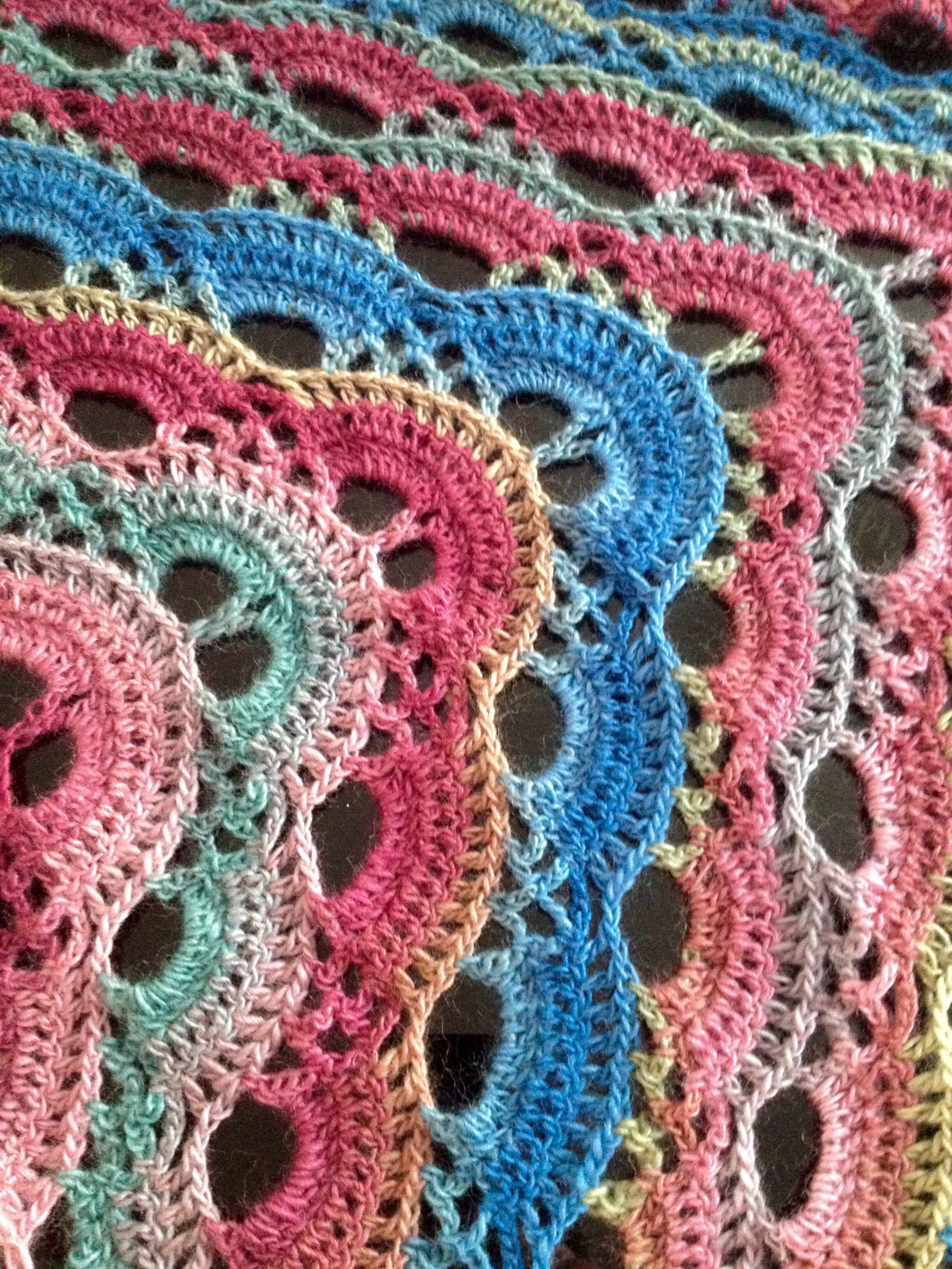 Scalloped Triangle Shawl Crochet Project By Theresa M Lovecrochet
