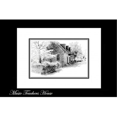 Ronnie Rowe The Music Teacher's House - Pen & Ink Series - RRP2 -  Leaflet
