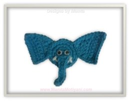 Crochet Elephant Applique Pattern Unique Embellishment