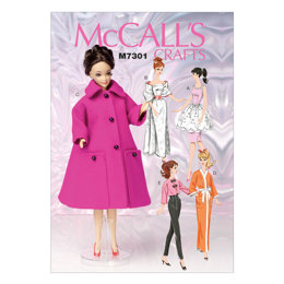 McCall's Retro-Style Clothes For 11½ Doll M7301 - Sewing Pattern