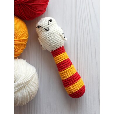 Hedwig white owl rattle /Potters friend