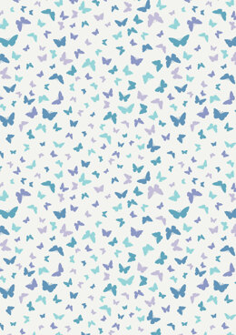 Lewis & Irene Sew Mindful Butterflies on Blissful Blue Cut to Length